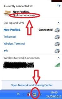 wifi hotspot tidak mau konek internet